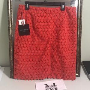 NWT Cynthia Rowley 100% cotton crochet skirt Sz 12